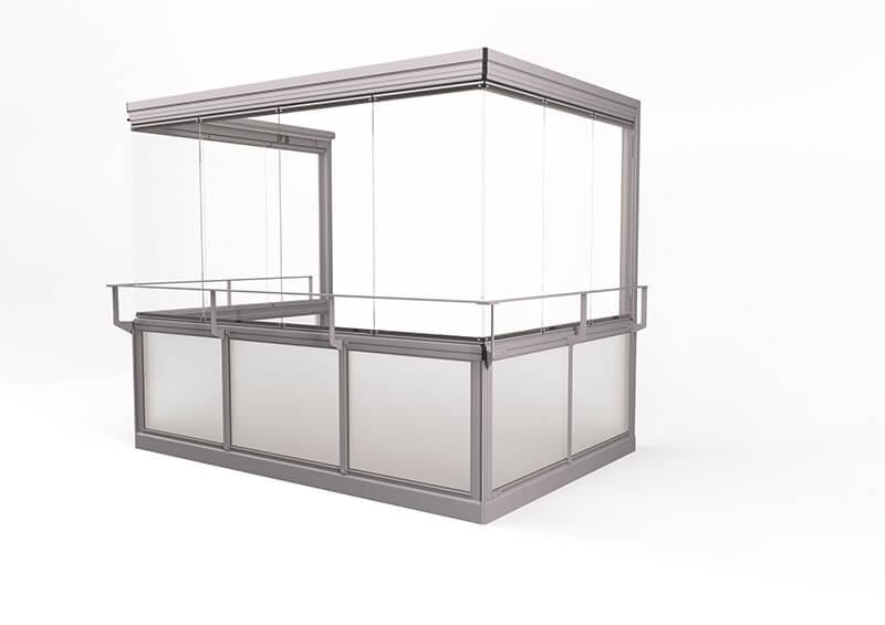 <span>Vision® Air</span> Grote profielvrije ramen - zonder hoekprofielen – met leuning